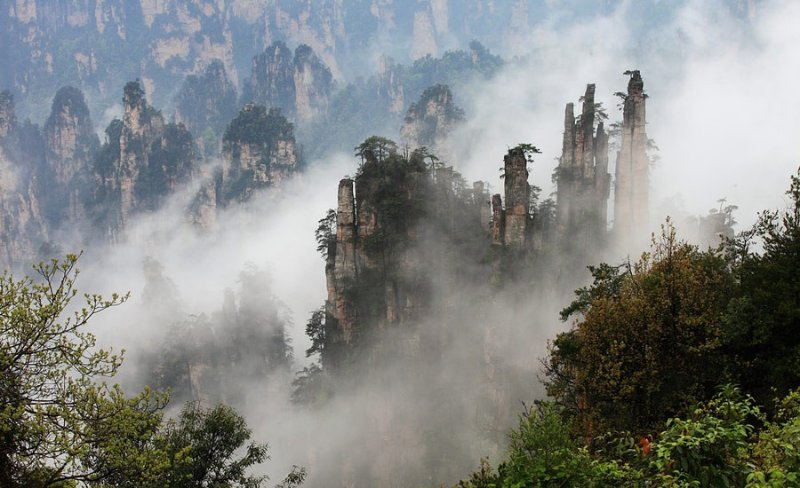 Pointy Chinese Mountains